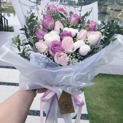 flower bouquet pastel