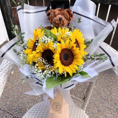 graduation bouquet teddy